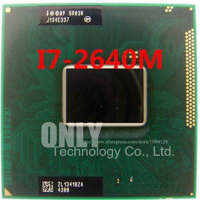 CPU Laptop Intel Core i7 2640M, 4MB Cache, tối đa 3.50GHz, Intel HD Graphics 3000