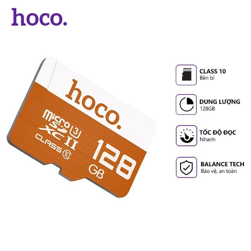 Thẻ Nhớ Micro SD Hoco 128Gb Class 10 - Hàng Chính Hãng - Bảo Hành 1 Đổi 1 5 năm