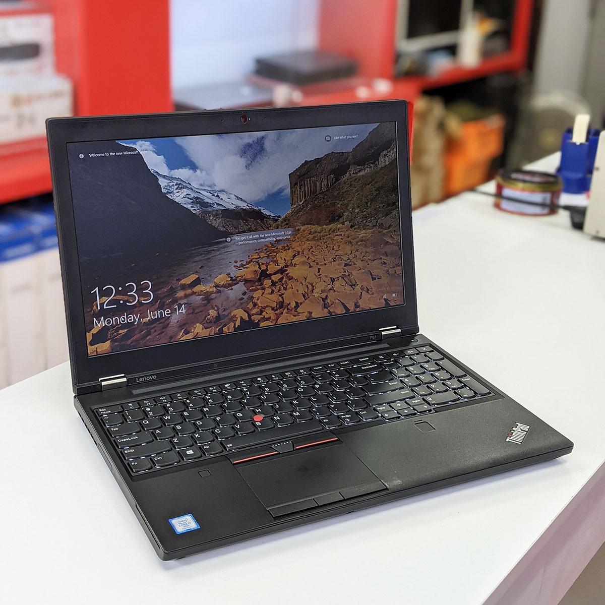 Lenovo Thinkpad P51 Core i7-7820HQ,  Ram 32GB, SSD 512GB, Quadro M2200 4GB, 15.6 Inch FHD IPS