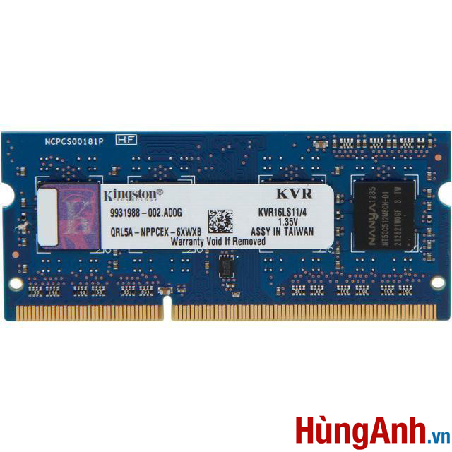 RAM Laptop Kingston 4GB / PC3L BUS 1600 / 12800S
