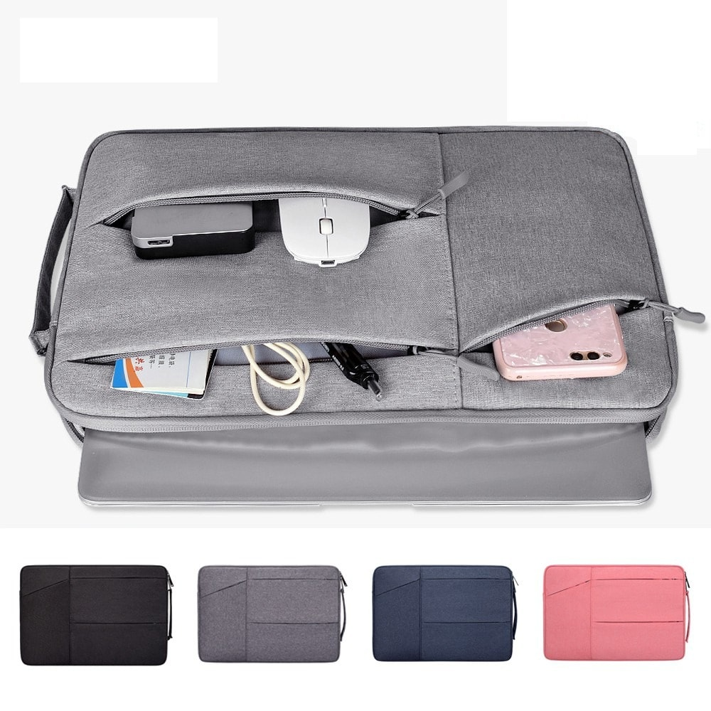 Túi chống sốc nhiều ngăn dùng cho Laptop, Macbook loại 13 Inch 14 Inch 15 Inch ( Có quai, không quoai )